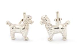 Myjung Kim - Zilveren manchetknopen hond - 9216