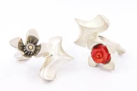 Hans van der Leen - Zilveren bloem ring - 10695 HLR198