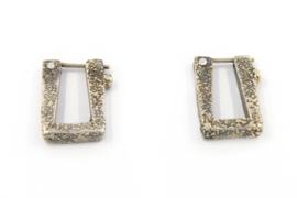 Hans van der Leen - Zilveren oorstekers in diverse kleuren - 10713.HLO049