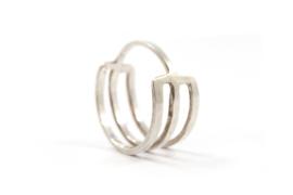 Nena Origins - Ring zilver met 3 lijnen - 11286