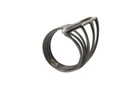 AW Edelsmeden - Ring zirkonium zwart - AWR -12