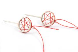 Klenicki Jewelry - Oorbellen dromenvanger lang rood -
