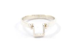 Nena Origins - Ring zilver vierkant met granulatie - 11292