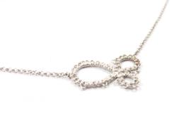 Femke Toele - Gehaakt zilveren collier groot - 11416
