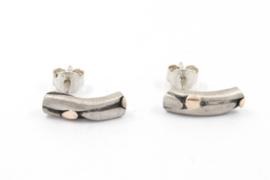 Hans van der Leen - Gevlochten zilveren oorstekers - 10687HLO001