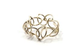 Dorien de Jonge - Bladvormige ring zilver - 2R04