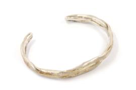 Hans van der Leen - Armband zilver met strooi goud - 10691.HLA010b