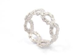 Femke Toele - Gehaakt zilveren ring - 11420