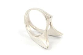 Hans van der Leen - Ring zilver gesplit - 10921