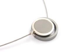 Susanne Schaars - Collier aluminium met zilver en magneet sluiting -