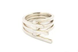 Galerie Puur - Cross-over ring zilver - 9756