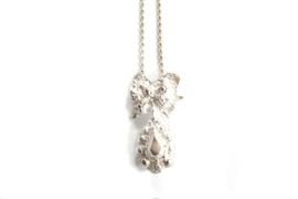 Juwelen Praten - Zilver collier met sierlijke hanger - 11070