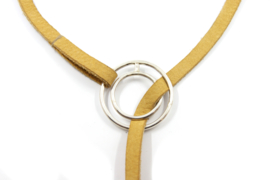 Nena Origins - Leren collier met zilveren sluiting - 11281