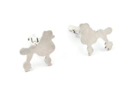 Myjung Kim - Zilveren manchetknopen poedel - 9217
