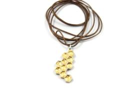 Inge Goedbloed - Honingraad hanger zilver met bladgoud - 11060