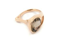 Hans van der Leen - Ring Rose goud met rookkwarts - 10707.HLR119