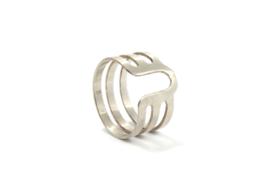 Nena Origins - Ring zilver met U vorm - 11284
