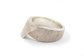 Hans van der Leen - Ring zilver met structuur - 10701.HLR21