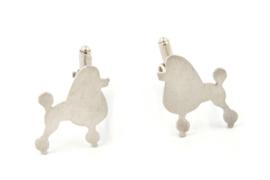 Myjung Kim - Zilveren manchetknopen poedel - 9127