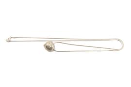 Maja Lava - Zilveren collier met knop hanger - 10938