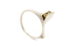 Hans van der Leen - Ring zilver met zirkonia - 10944