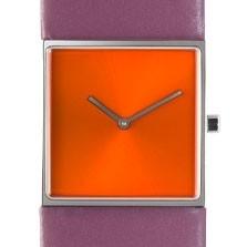 Horloge vierkant oranje/paars DST-DC-011