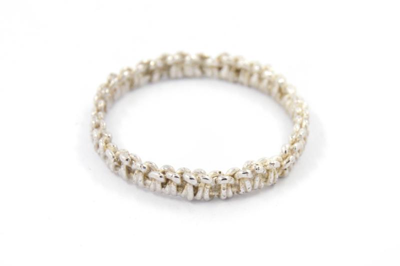 Femke Toele - Gehaakt zilveren ring - 11419