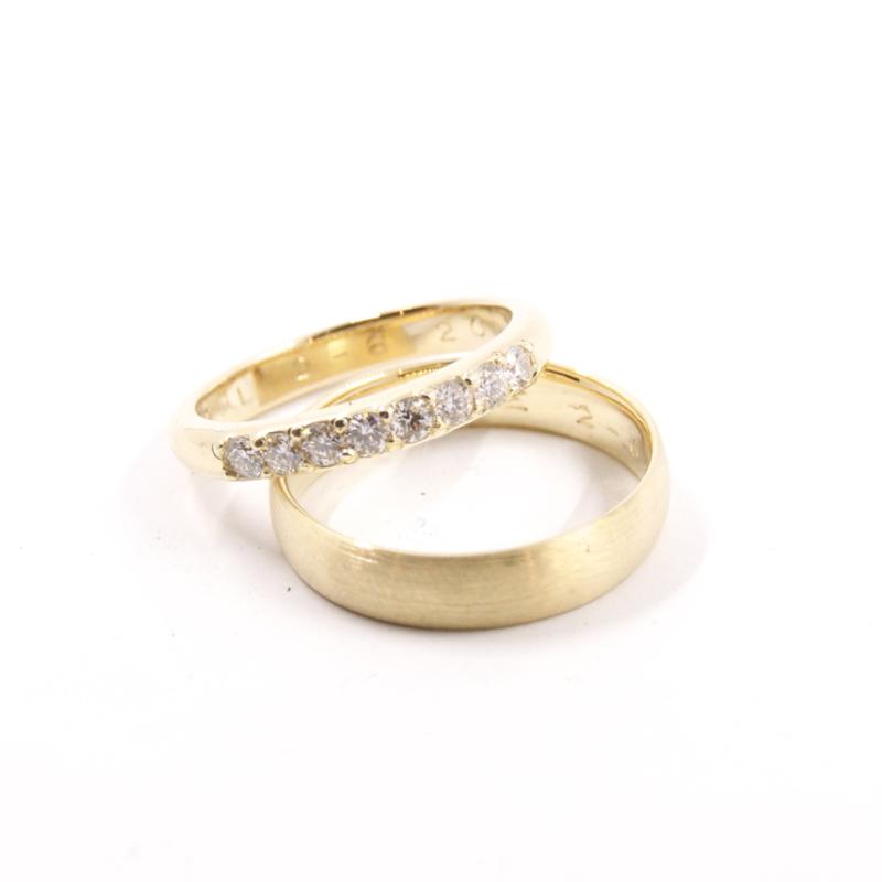 Trouwringen  Classic Large Diamond
