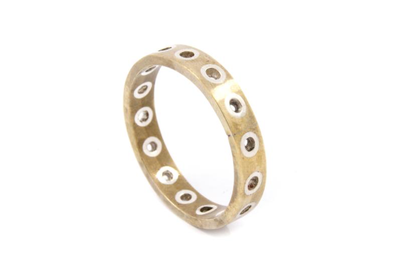Galerie Puur - Ring van geelgoud met zilver - 240
