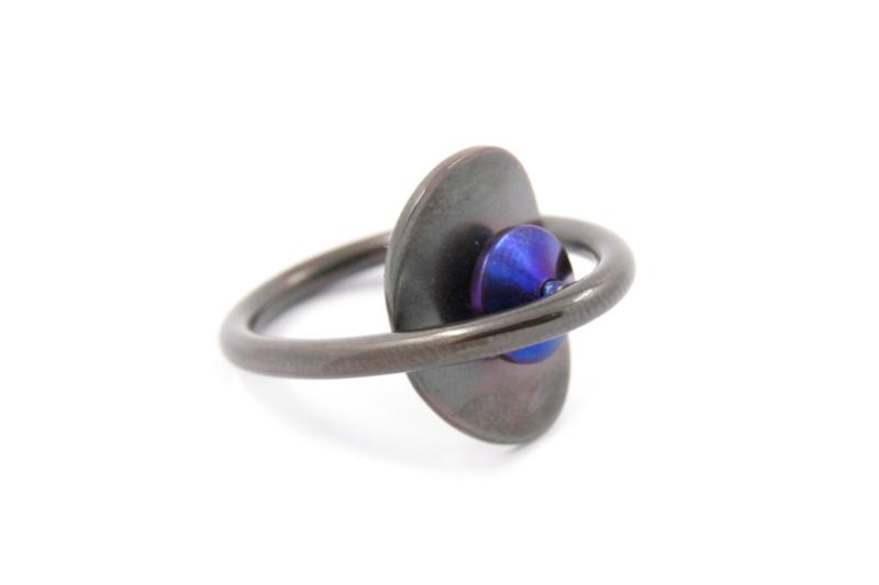 AW Edelsmeden - Ring zirkonium en titanium - AWR-7