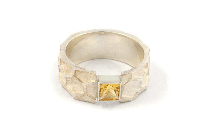 Inge Goedbloed - Honingraat ring met citrien - 11097