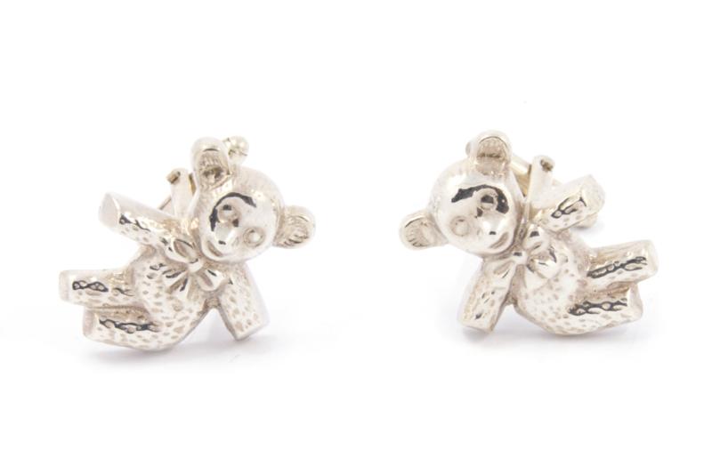 Myjung Kim - Zilveren manchetknopen teddy - 9218