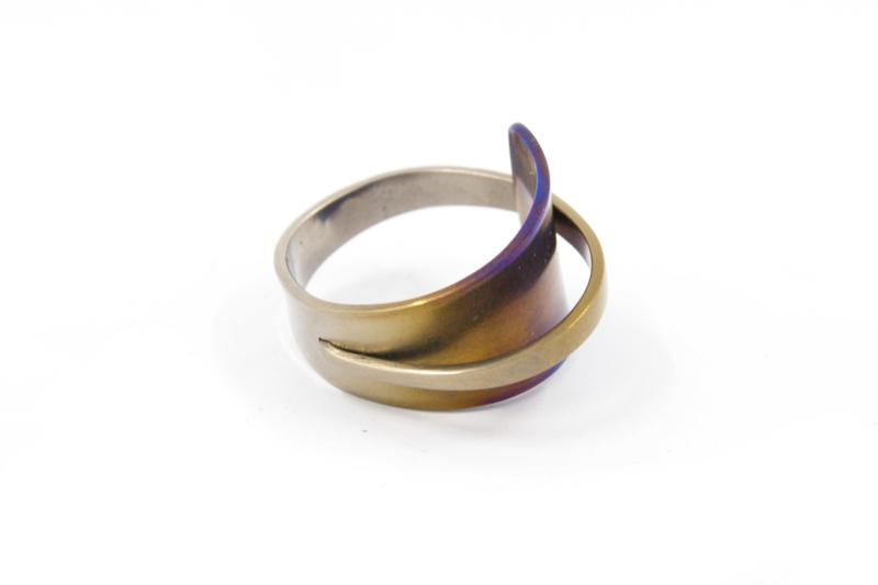 AW Edelsmeden - Gekleurd titanium ring - AWR - 1