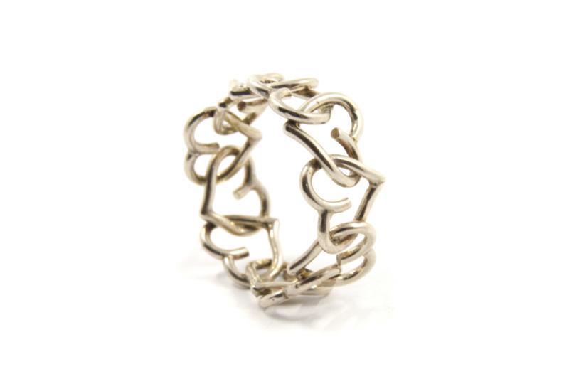 Dorien de Jonge - Hartvormige ring zilver - 2R03