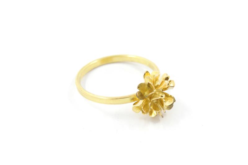 Erwin Borggreve - Ring goud met bloem - 10721