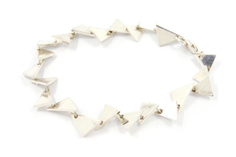 Galerie Puur - Armband zilver driehoek - 11304