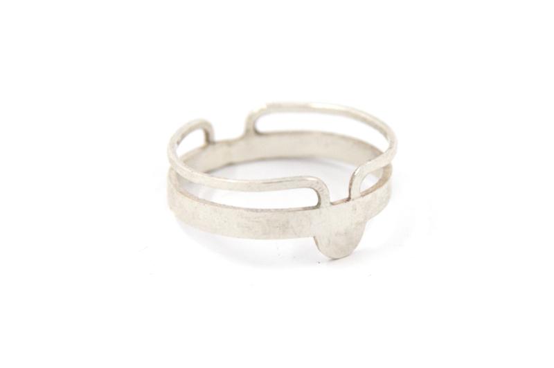 Nena Origins- Geometrische Ring Zilver - 11298