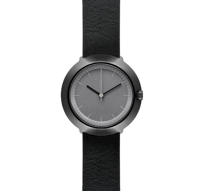 Fuji Horloge - grijs met zwarte band