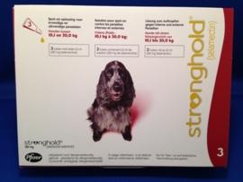 Stronghold Rood 10,1 - 20 kg | 3 pipetten | ontwormen en ontvlooien tegelijk  Dit product mag alleen verkocht worden met een recept van de dierenarts