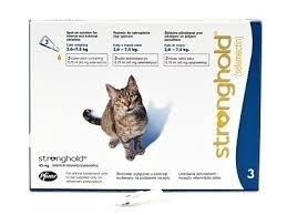 Stronghold Blauw voor de kat | 3 pipetten ). Dit product mag alleen verkocht worden met een recept van de dierenarts