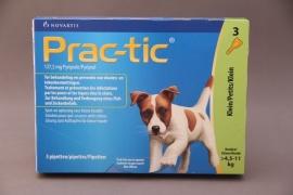 Vlooienmiddel hond Prac-tic : preventief voor vlooien en teken. ( 3 pipetten voor honden van 4.5-11 kg)
