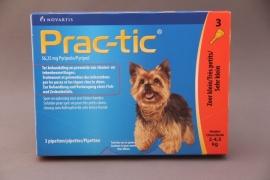 Vlooienmiddel hond Prac-tic :   preventief tegen vlooien en teken.  ( 3 pipetten voor honden van 2-4.5 kg)