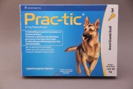 Vlooienmiddel hond Prac-tic : preventief voor vlooien en teken( 3 pipetten voor honden van 22-50 kg)