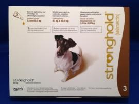 Stronghold Bruin 5,1 - 10 kg | 3 pipetten | ontwormen en ontvlooien tegelijk  Dit product mag alleen verkocht worden met een recept van de dierenarts