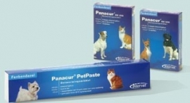 Panacur pet paste tube om te behandelen bij maagdarmwormen of giardia.