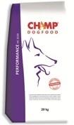 Champ hondenvoer premium Performance 20 kg, op basis van gevogelte en rijst is speciale ontwikkeld voor volwassen sport- en diensthonden van alle rassen.