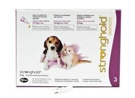 Stronghold Roze < 2,5 kg | 3 PIPETTEN | Dit product mag alleen verkocht worden met een recept van de dierenarts