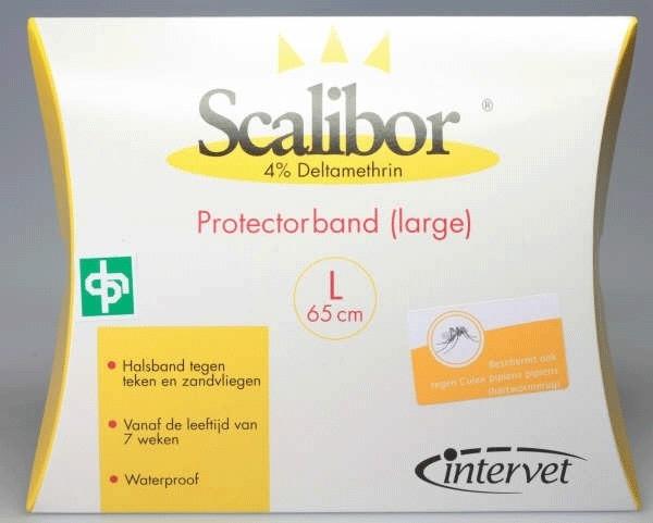 Vlooienmiddel hond Scalibor halsband  L : tegen vlooien,teken, en zandvlieg werking 6 maanden