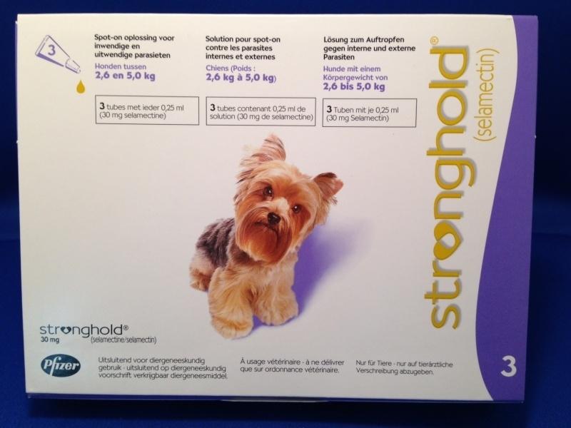Stronghold Lila 2,6 - 5 kg | 3 pipetten | ontwormen en onvlooien tegelijk  Dit product mag alleen verkocht worden met een recept van de dierenarts