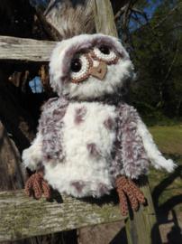 Haakpakket: Funny Furry Owl Soft donkerbruin